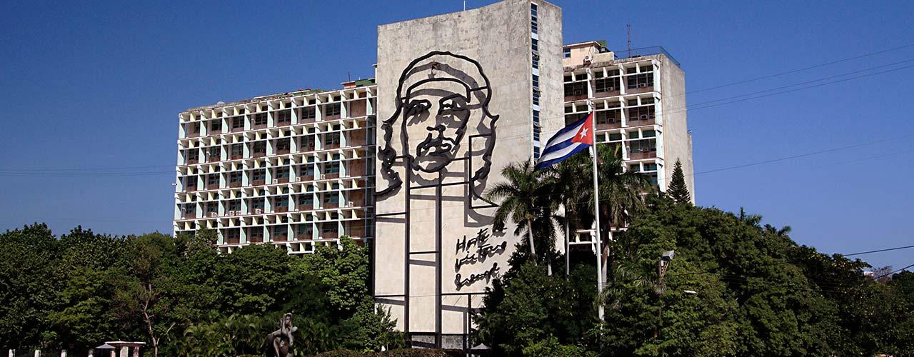 Indenrigsministeriet bygning på Plaza de la Revolución, Havana, Cuba. Foto Vlad-Podvorny (CC by 2.0)