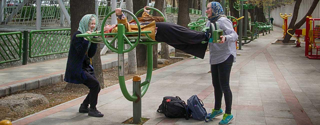 Motionsredskab på gaden