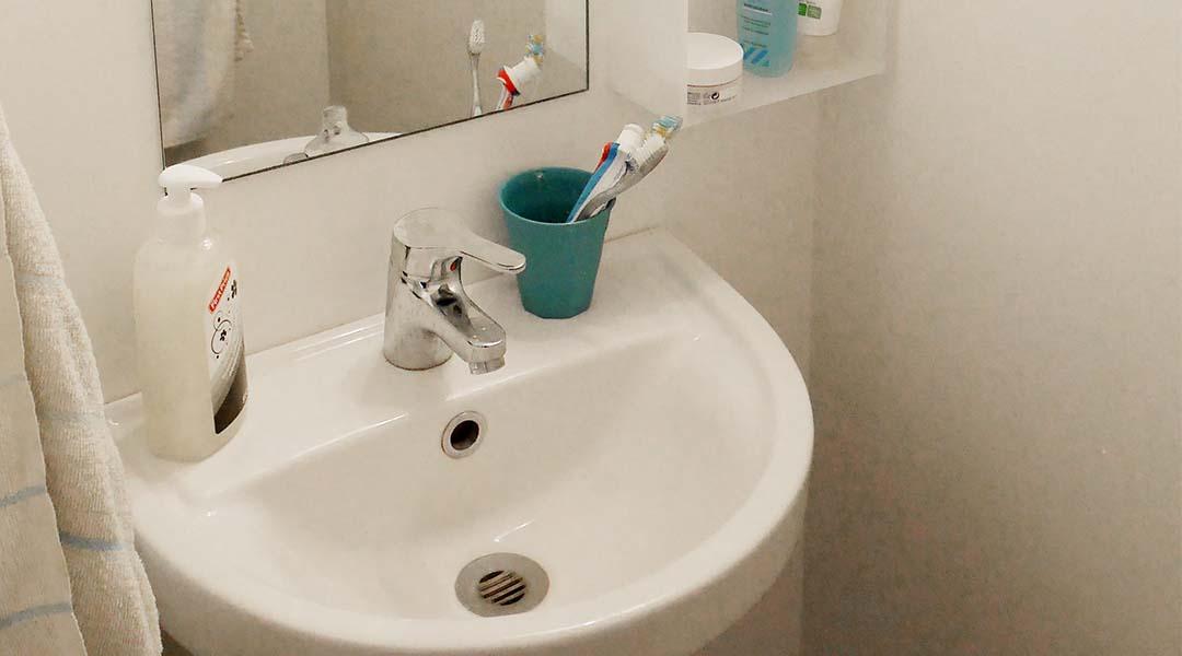 Håndvask på værelset